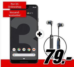 Wieder da: Google Pixel 3 XL + Sennheiser CX6 Kopfhörer für 79€ + Vodafone Allnet Flat mit 8GB LTE für 21,99€ mtl.