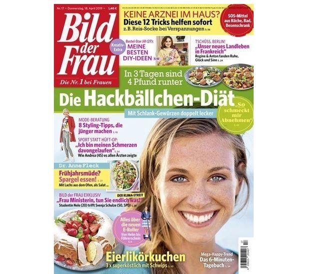 Knaller! Bild der Frau Halbjahresabo gratis statt 44,20€ + einmal. 4,95€ VSK