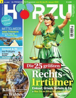 Tipp! 26 Ausgaben HÖRZU TV Zeitschrift für 59,80€+ 60€ Bestchoice Gutschein