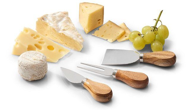 Ausverkauft! Zeller 25590 Käsemesser Set in Naturoptik für 5€ (statt 12€)
