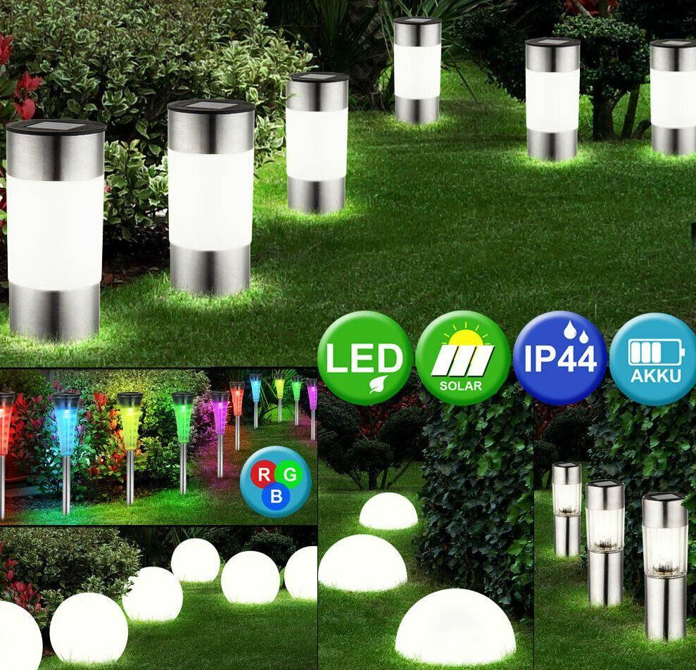 NoName LED Solar Garten Lampen Sets   5 Varianten für je 23,50€