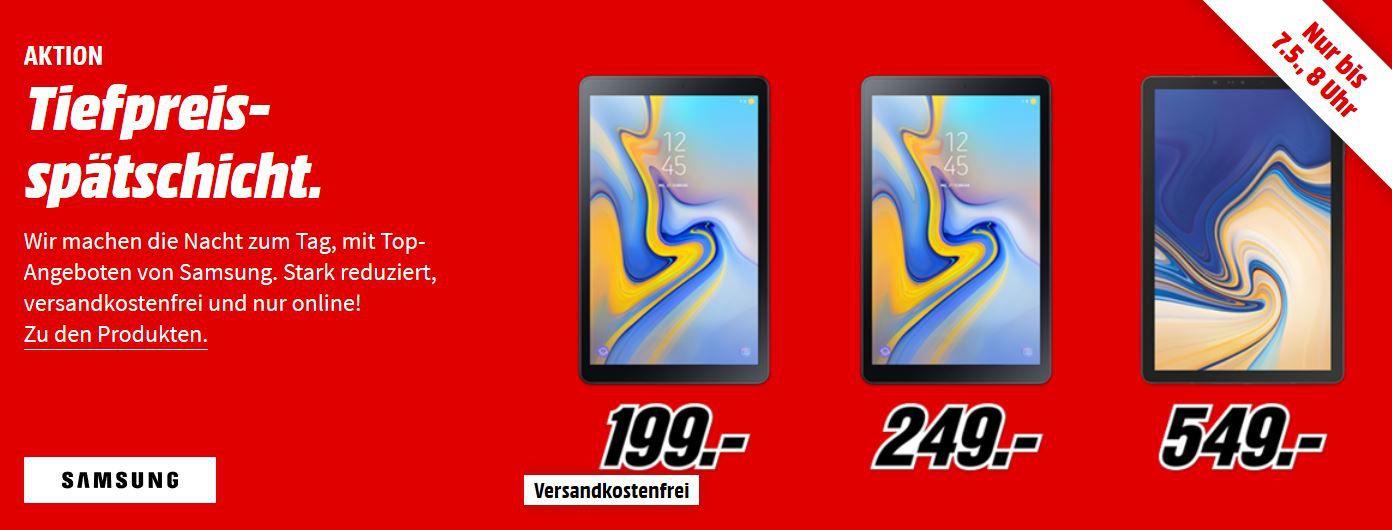 Media Markt Samsung Tiefpreisspätschicht : günstige Tablets & Speicher, Monitore mit Direktabzug, Smartphones & Wearables