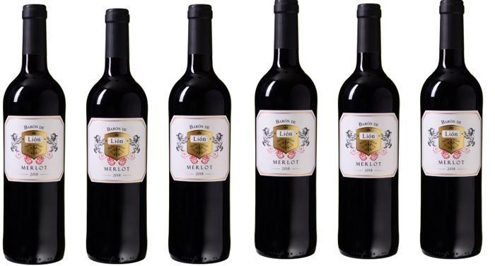 Barón de Lión 6 Flaschen spanischer Merlot Rotwein für 29,94€ (statt 45€)