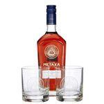 Metaxa 12 Sterne im Geschenkset mit 2 Gläsern (1x 0,7l) für 24,28€ (statt 32€)