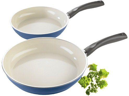 Ausverkauft! Stylen Cook Pfannenset 2 teilig 24 & 28cm mit Keramikbeschichtung in Blau für 16€ (statt 40€)