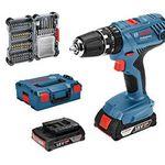 Vorbei! Bosch Kit GSB 18V-21 mit 2 x 2,0 Ah + L-Boxx + 40-tlg. Zubehörset für 155,59€ (statt 187€)