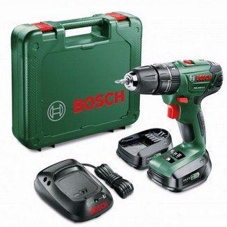 Bosch Akku Schlagbohrschrauber PSB 1440 LI 2 mit 2x 14,4V Akkus + Koffer für 92,90€ (statt 104€)