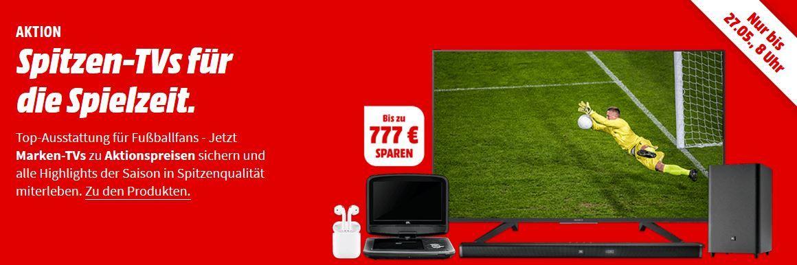 Media Markt Spitzen TVs: günstige Fernseher, Beamer, Kopfhörer & Sound, sowie tragbare DVD Player