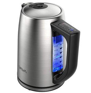 VAVA Wasserkocher Edelstahl 1.7L mit 6 Temperatureinstellungen für 29,99€ (statt 40€) Prime