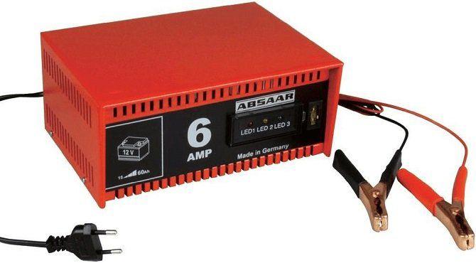 ABSAAR 77905 Batterie Ladegerät in Rot/Schwarz für 23€ (statt 28€)