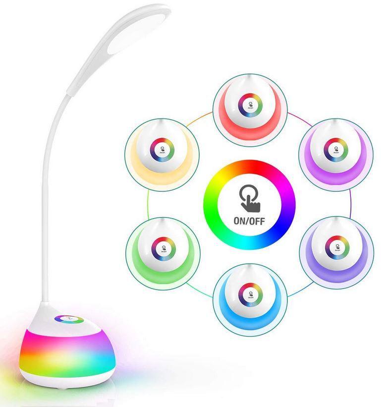 AMBOTHER LED Schreibtischlampe Stimmungslicht mit USB ab 9,49€ Prime (statt 19€)