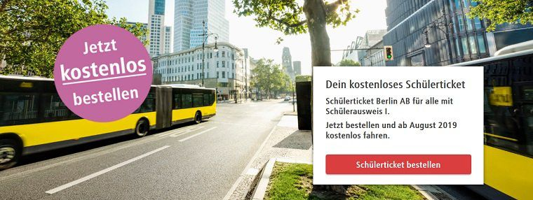 Berlin: Schülerticket gratis (statt 22€)