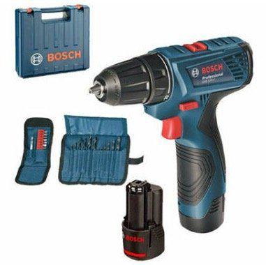 Bosch GSR 120 LI Professional inkl. 2x 1,5Ah Akkus + Ladegerät + Koffer für 79,90€ (statt 99€)