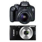 🔥 CANON EOS 4000D mit 18-55mm Objektiv + Tasche + Karte + CANON Ixus 185 für 253,99€ (statt 338€)