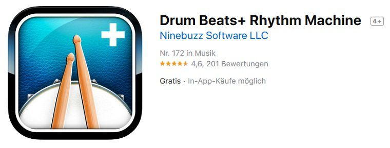 iOS: Drum Beats+ Rhythm Machine kostenlos (statt 5,49€)