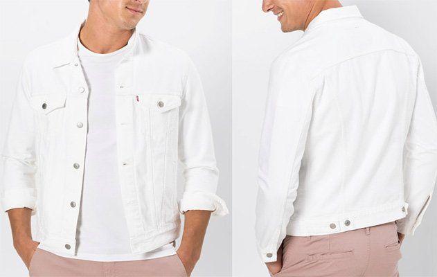 Levis Jeansjacke THE TRUCKER in Weiß für 80,67€ (statt 101€)