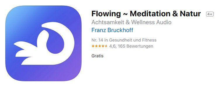 iOS: Flowing ~ Meditation & Natur gratis (statt 2,29€)