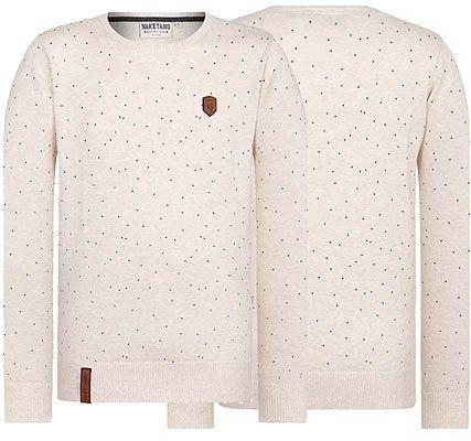 Naketano Sweatshirt Wir Sind Kanacken Ja in Beige für 24,47€ (statt 43€)