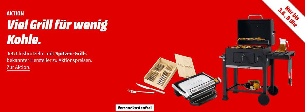 Media Markt Weekend Aktion günstige Grills & Zubehör
