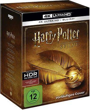 Harry Potter 4K Complete Collection (16 Discs) auf 4K Ultra HD Blu ray + Blu ray für 96€ (statt 125€)