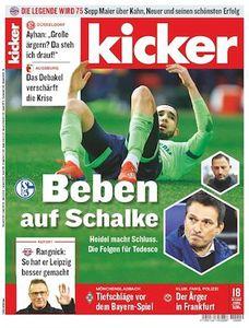 26 Ausgaben vom Kicker für 44,10€ inkl. 25€ Verrechungsscheck