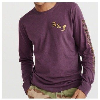 Abercrombie & Fitch Pullover Is Tech Logo Rugby in XS, S und L in Lila für 19,71€