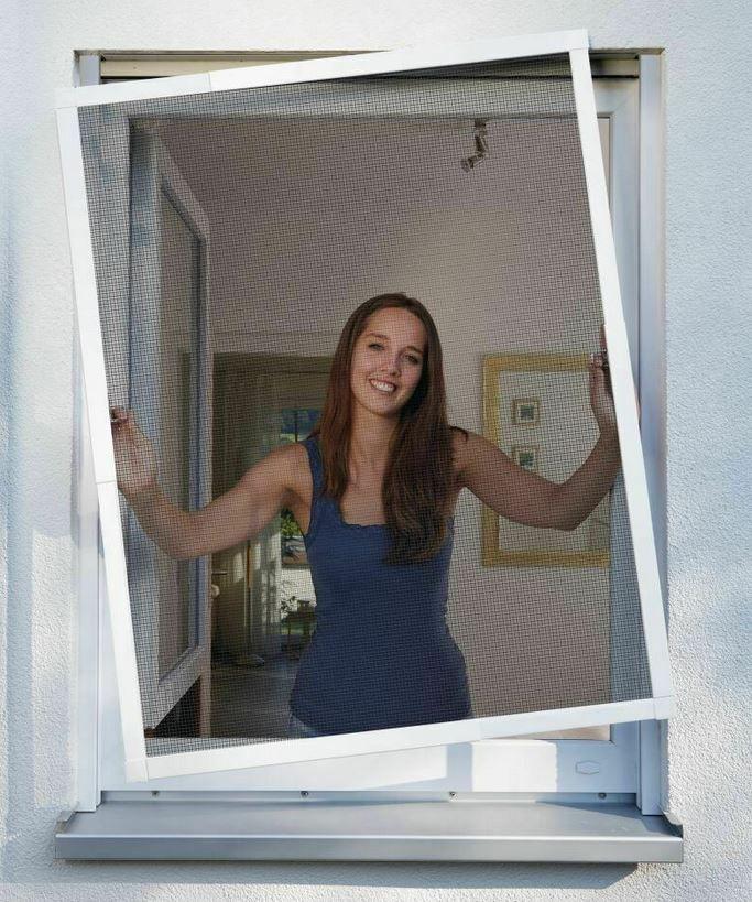 Schellenberg TELESCOPE Alu Insektenschutz Fenster max 120 x 150 cm für 21,95€ (statt 33€)