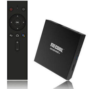 MECOOL KM9 Pro   TV Box mit 16GB & 2GB RAM inkl. Sprachsteuerung & Android 9 für 35,52€