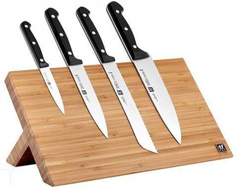 Vorbei! ZWILLING magnetischer Messerblock TWIN Chef mit 4 Messern für 79,96€ (statt 219€)