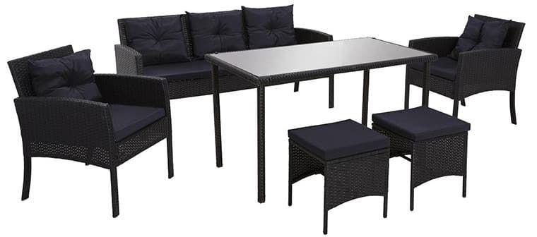 6tlg. Gartengarnitur Kerstin inkl. Tisch für 249,25€ (statt ~349€)