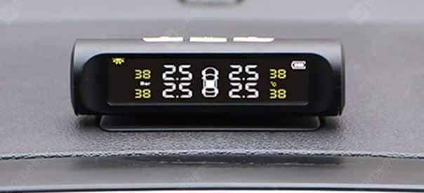 Kabelloses Reifendruckkontrollsystem mit Solar Panel & Temperaturanzeige für 19,91€