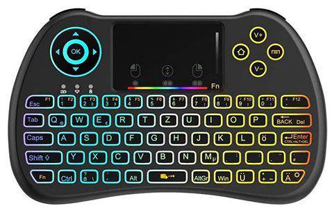 TecBoss TC001 Bluetooth Mini Tastatur mit Touchpad für 9,59€   Prime