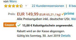 WORX WX820   20V Akku Multi Schleifer für 114,99€ (statt 150€)