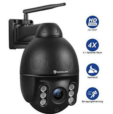 Dericam 1080P PTZ WLAN Außenkamera mit 30m Nachtsicht für 108,75€ (statt 136€)