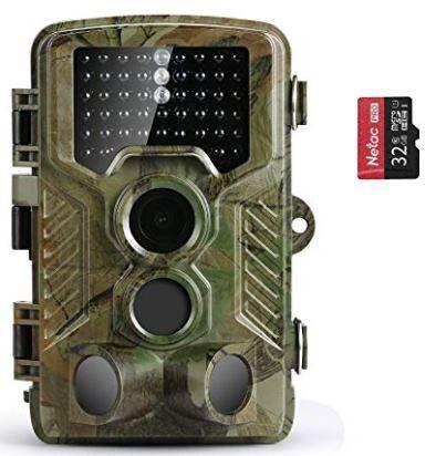 YM188 1080p Wildkamera mit 125° Weitwinkel & 32GB SD Card für 42,75€ (statt 95€)