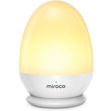Miroco MI CL001 Nachtlicht mit Akku, Touch & bis zu 200h Betriebszeit für 11,49€ (statt 23€)
