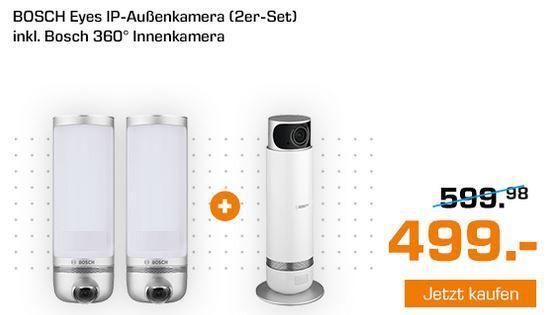 Saturn Smarthome Woche: heute z.B. BOSCH F01 Eyes, 2 x IP Kamera +  BOSCH 360° Innenkamera 1080 p für 499€ (statt 685€)