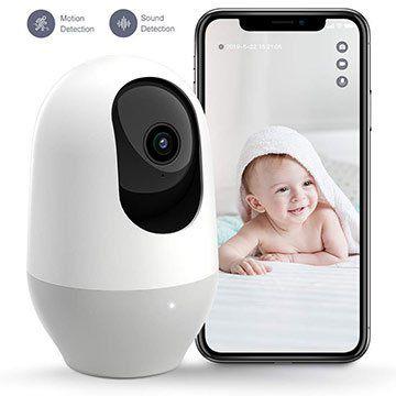 nooie 1080p 360° WLAN Cam mit Bewegungs- & Geräuscherkennung für 29,99€ (statt 60€)