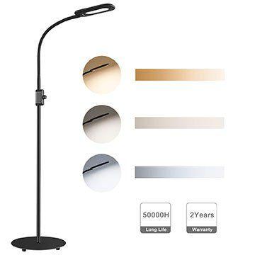 Aukey LT ST34   dimmbare LED Stehlampe mit 3 Farbtemperaturen für 29,99€ (statt 50€)