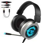 CACAGOO Gaming Headset mit USB & 3,5mm für 23,99€ (statt 32€)