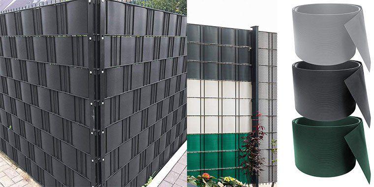 30% Rabatt auf PVC Sichtschutzstreifen in diversen Farben   z.B. 10x 2,52 Meter x 19cm für 26,99€ (statt 45€)