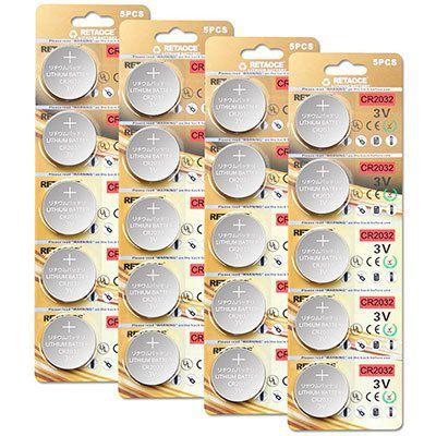20x CR2032 3V Lithium Knopfzellen für 3,49€   Prime