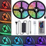 Ambother RGB-LED-Streifen 2x 5 Meter IP65 mit Netzteil und Fernbedienung für 13,99€