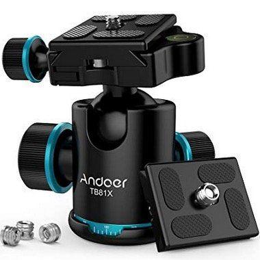 Andoer TB81X Stativ Kugelkopf 360 Grad für z.B. DSLR Kameras für 18,14€ (statt 27€)