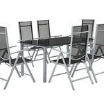 ArtLife Mailand Aluminium Gartengarnitur 6 Stühle + Glastisch für 197,95€ (statt 260€)