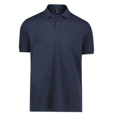 BOSS Herren Poloshirt Pallas Regular Fit als Kurzarm in Navyblau für 67,96€ (statt 80€)