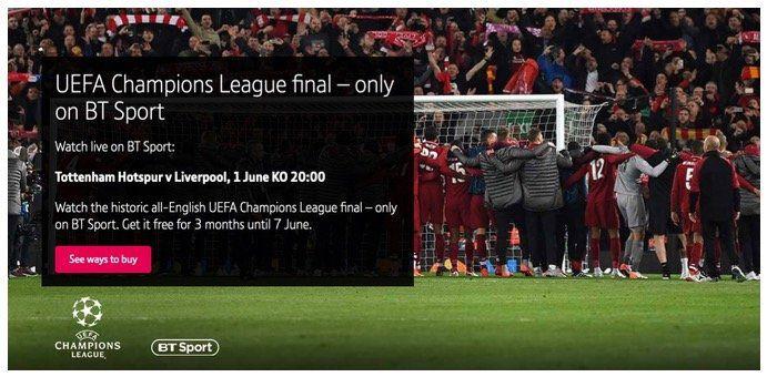 Heute Abend das Champions League Finale im Livestream schauen