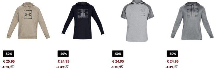 Under Armour Sale bei Geomix ohne Versandkosten z.B. Sweatjacke für 25,95€
