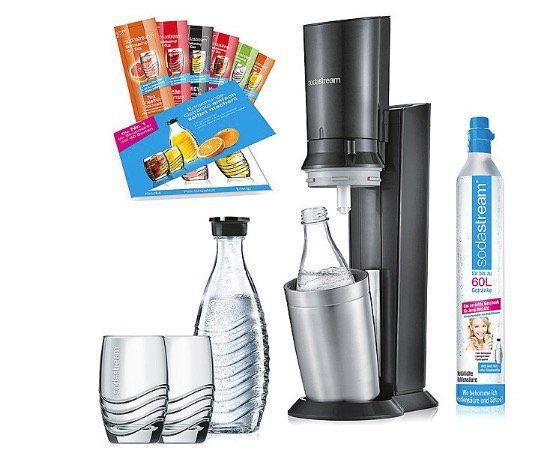 SodaStream Crystal 2.0 Promopack mit 2 Glas Karaffen + 2 Gläsern für 104,99€ (statt 126€)
