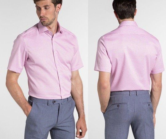 eterna Kurzarm Modern Fit Hemd in Altrosa für 44,96€ (statt 55€)